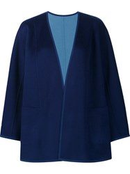 Lafayette 148 New York Draped Cropped Jacket Blue