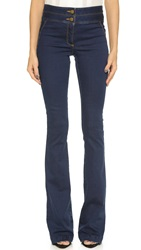 Veronica Beard High Waisted Flare Jeans Medium Blue