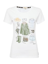 Barbour Brae Travel Tee White