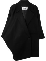 Chalayan Wide Collar Coat Black