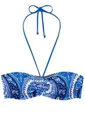 Oasis Paisley Print Rouched Bandeau Top Multi Coloured