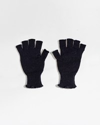 Mhl By Margaret Howell Rib Cuff Fingerless Glove Navy