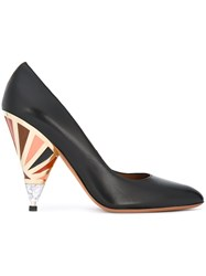 Givenchy Lacquered Heel Pumps Black