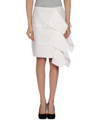 Maison Rabih Kayrouz Knee Length Skirts White