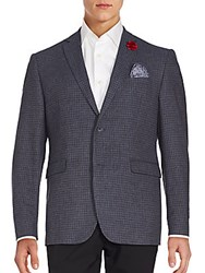 Penguin Tweed Two Button Jacket Blue Twist