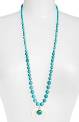 Chan Luu Women's Semiprecious Stone Pendant Necklace Turquoise