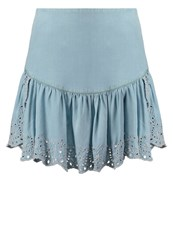 Guess Christie Mini Skirt Cote D'azur Light Blue