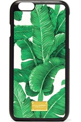 Dolce And Gabbana Printed Textured Leather Iphone 6 Case Green