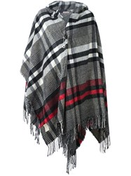 Vivienne Westwood Checked Poncho Black