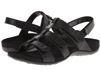 Vionic With Orthaheel Technology Amber Black Croco Women's Sandals