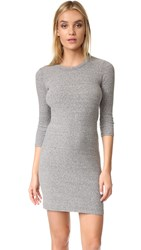 Enza Costa 3 4 Sleeve Mini Dress Heather Grey