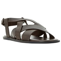 Bertie Ionian Multi Strap Leather Sandals Brown