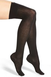 Emilio Cavallini Cotton Blend Over The Knee Socks Black