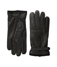 Michael Michael Kors Leather Gloves W Handsewn Belt And Snap Detail Black Extreme Cold Weather Gloves