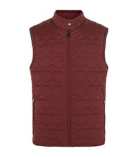 Z Zegna Reversible Quilted Gilet Male Burgundy