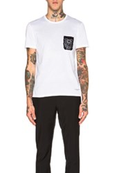 Burberry Prorsum Lace Pocket Tee In White