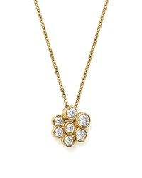Ippolita 18K Yellow Gold Glamazon Stardust Mini Pendant Necklace With Diamonds 16 Silver Blue