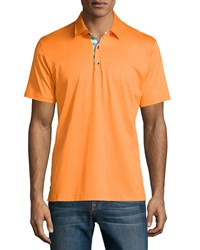 Robert Graham Kauai Short Sleeve Polo Shirt Orange