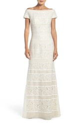 La Femme Women's Knit Lace Mermaid Gown