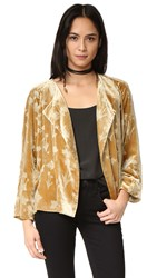 Elizabeth And James Audrey Raglan Sleeve Velvet Jacket Brass Glitter