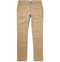Nn.07 Marco Slim Fit Cotton Blend Twill Chinos Neutrals