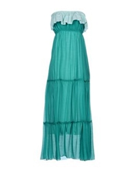Angela Mele Milano Long Dresses Green