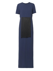 Adam By Adam Lippes Fringe Embellished Crepe Gown