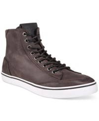 Guess Cognac High Top Boots Men's Shoes Dark Grey
