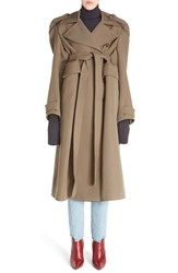 Vetements Women's Wool Military Coat