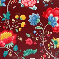 Pip Studio Floral Fantasy Wallpaper 341033 Burgundy