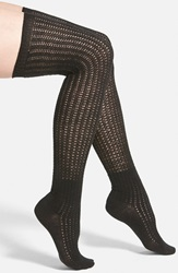 Vince Camuto Lightweight Over The Knee Socks Online Only Black