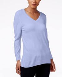 Karen Scott V Neck Sweater Only At Macy's Purple Bliss