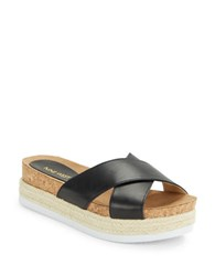 Nine West Amyas Platform Slide Sandals Black