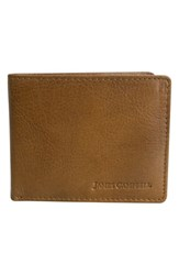 James Campbell Men's Leather Bifold Wallet Brown Tan