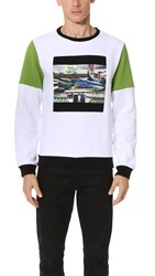 Opening Ceremony Space Agriculture Crew Sweatshirt White Multi