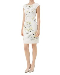 Hobbs London Maiya Floral Print Dress Yellow