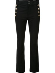 Derek Lam 10 Crosby Button Detailing Flared Trousers Black
