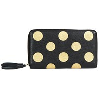 John Lewis Liv Leather Travel Wallet Black Spot