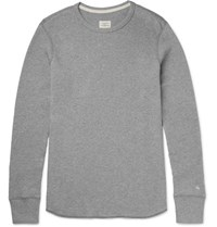 Rag And Bone Waffle Knit Cotton T Shirt Gray