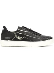 Off White Modern Print Sneakers Black