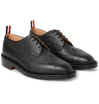 Thom Browne Longwing Pebble Grain Leather Wingtip Brogues