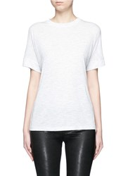 Vince Heathered Jersey Cocoon T Shirt Grey