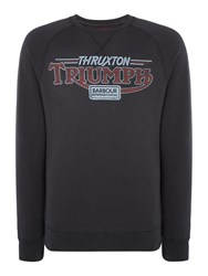 Barbour Triumph Absorber Logo Crew Charcoal