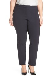 Lafayette 148 New York Plus Size Women's Stretch Wool Ankle Pants Navy