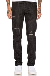 Black Scale Destroyed Denim Black