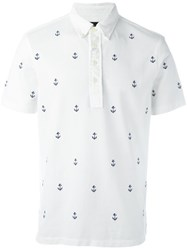 Ralph Lauren Embroidered Anchor Polo Shirt White