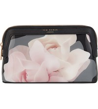 Ted Baker Annello Porcelain Rose Cosmetic Case Black