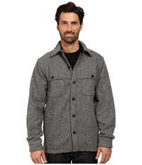 Woolrich Wool Stag Shirt Jacket New Gray Men's Coat