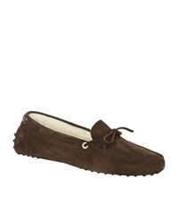 Tod's New Lacetto Shearling Slipper Female