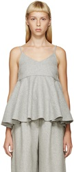 Edit Grey Felted Wool Peplum Tank Top